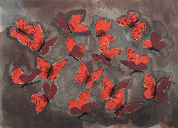 red-butterfly-butterflies-painting-art-Hermann-Teuber